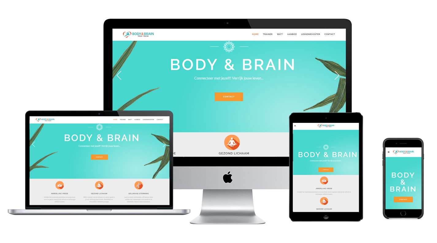 Body & Brain website responsive