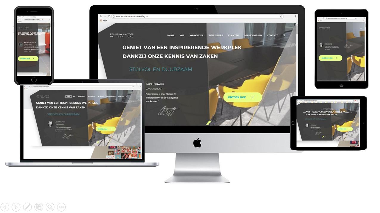 Website Een nieuw kantoor in een dag